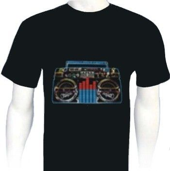 T-Shirt Lumineux à LED Radio Taille M
