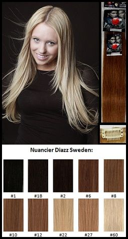 Diazz Sweden-Clip-in - Kit complet-Cheveux 100 % naturels (humains)2