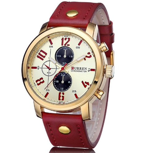Montre homme CURREN rouge