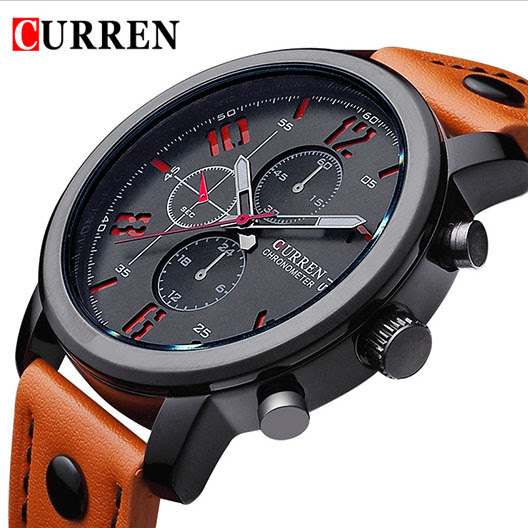 Montre homme CURREN orange