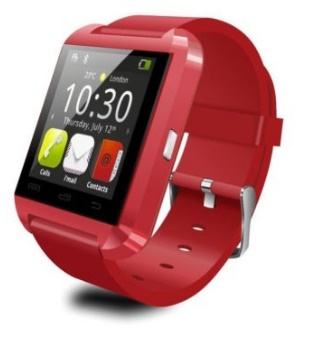 Montre rouge U8 connectée bluetooth